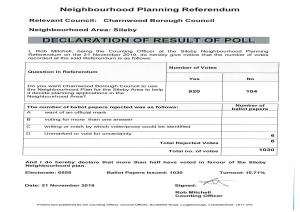 Declaration of Result for the Sileby Neighbourhood Planning Referendum