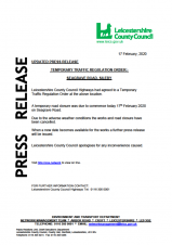 LCC PRESS RELEASE - 17TH FEBRUARY 2020